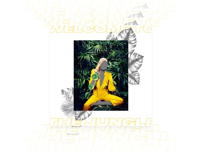 Welcome to the jungle - Poster Serie n°004 graphic design poster design yellow typography type leaf poster marble graphic faceless design jungle