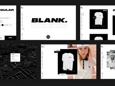Blank. Overview black  white type fashion website ux ui design blank.