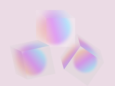 3D glossy cube glossy vector design illustration experience abstract