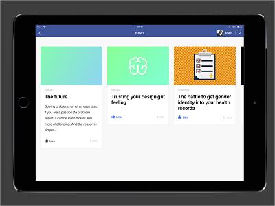 [Prototype] Facebook News cards research ux ui article news facebook prototype