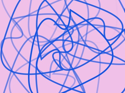 Fouilli pink experience sketch abstract