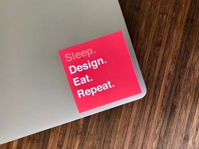 Designer Sticker sleep repeat eat designs designer sticker design