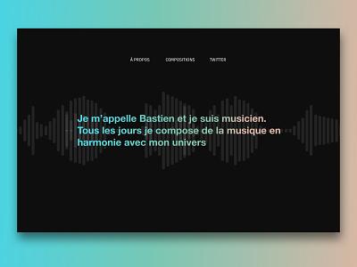 Le portfolio du musicien artist sound designer portfolio design sound music portfolio webdesign website