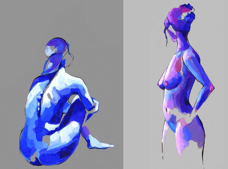 Don`t look back illustration hand illustration