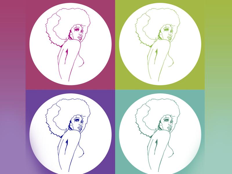 Lili pop disco mood popculture pop picture art design colors artwork illustration hand illustration