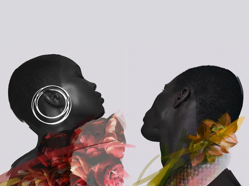 Strange beauty conception stranger artist artwork flower abstract strange beauty afro people art illustration