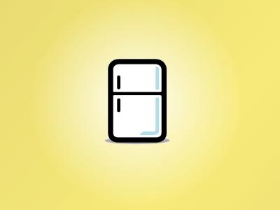 Fridge Icon fridge icon yellow black white