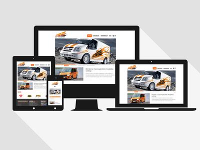 G.J. Transport website design