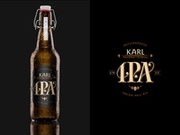 Karl IPA beer label