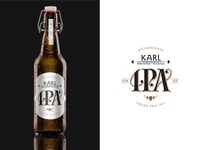 Karl IPA beer label white version