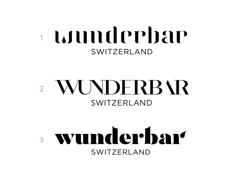 Wunderbar Switzerland switzerland logodesign lettering logotype type negativespace typeface branding typography identity brand logo
