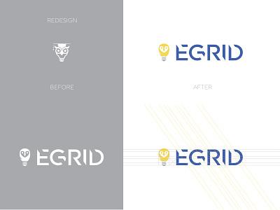 EGRID logo redesign icon bird icon bird logo bird engineering led lighting owl logo owl animal app branding logotype typography hidden brand identity logo
