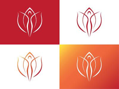 Flower-woman logo concept figure human shape spring medical aesthetics aesthetic woman green plant flower hidden negative space logo negativespace tulip logo