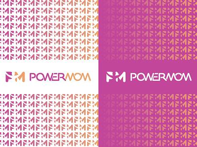 POWERMOM brandmark logotype negative space logo negativespace branding logodesigner vector identity icon logo typographic sport coach rehabilitation physiotherapy medical woman mother mom power