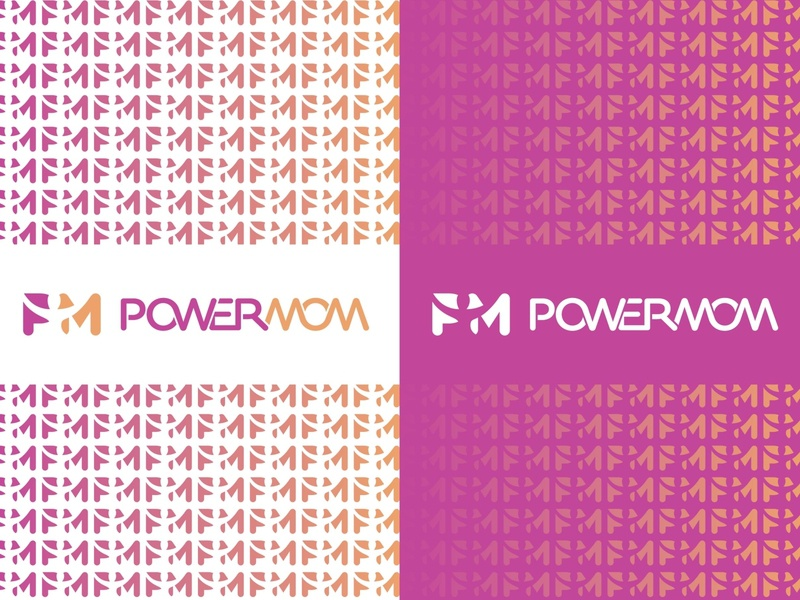 POWERMOM brandmark logotype negative space logo negativespace branding logodesigner vector identity icon logo typographic sport coach rehabilitation physiotherapy medical woman mother mom power