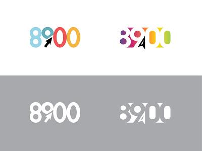 8900 mobile app mobile zip code postcode numbers number 9 direction arrow app icon negative space logo negativespace identity branding logotype typography hidden brand logo