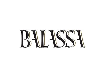 BALASSA WINE name grape branding typography logotype winery wine negativespace hidden brand logo