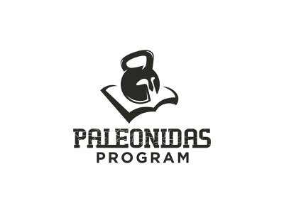 Paleonidas Program paleo sport fontstyle typography type kettlebell leonidas book crossfit helmet spartan negativespace identity hidden brand logo