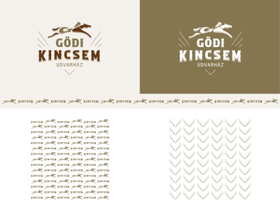GÖDI KINCSEM UDVARHÁZ branding racehorse illustration museum animal horse identity brand logo