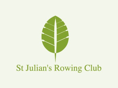 St Julian S Rowing Club letter chlorophyl silhouette concealed positive and negative space parallel group green leaf club rowing sport
