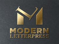 Modern Letterpress monogram project