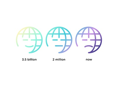 Save me! Earth logo evolution...