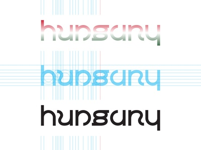 Hungary ambigram logo design