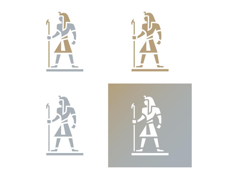 Pharaoh ancient antique form shape body man human body human negative space logo negative-space negative space icon illustration logo egyptian egypt pharaoh figure