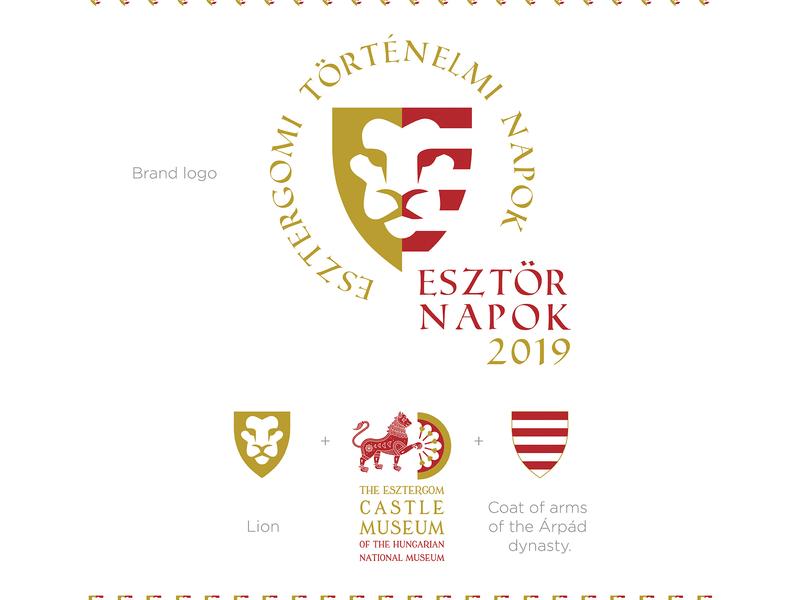 ESZTÖR logo by VASVARI DESIGN crest logo crest shield arms lion identity design identity branding identity castle hungarian hungary festival museum logomark branding brand logo