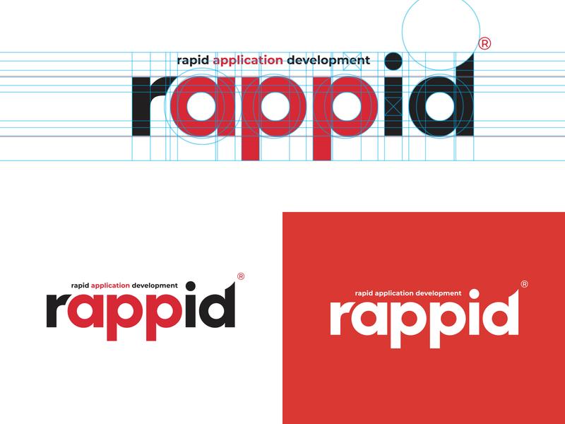 rappid brand logo company consultant information technology computing workflow development product logo logotype icon brand identity app branding mark brand typography ui identity logo
