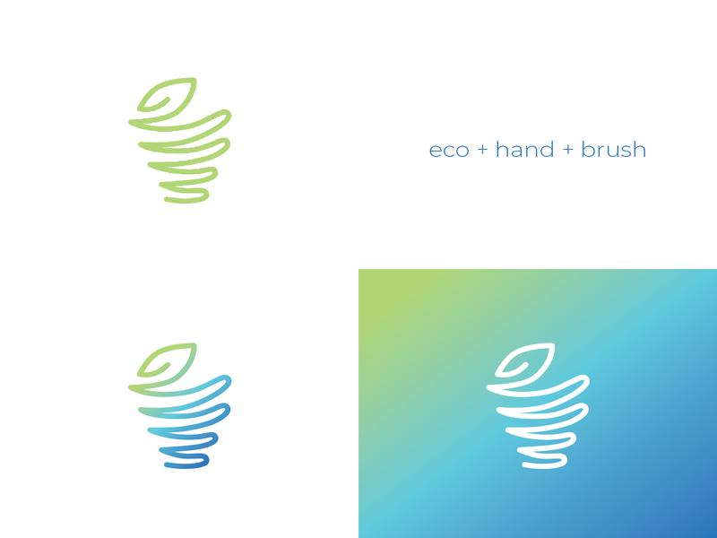 eco+hand+brush icon Vasvari Design logotype brand logoinspirations goldenratio logogrid graphicdesign minimalist icon logo branding design cleaning clean cleanliness cleanness brush hand ecology ecological eco