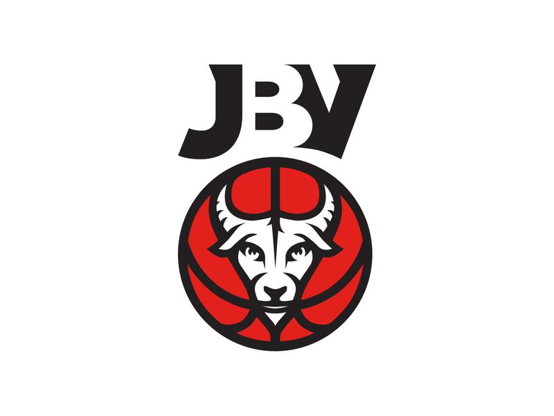 JBV animal logo animal goat logo goat sports logo sport basketball player basketball logo basketball typography logodesigns logotype logo