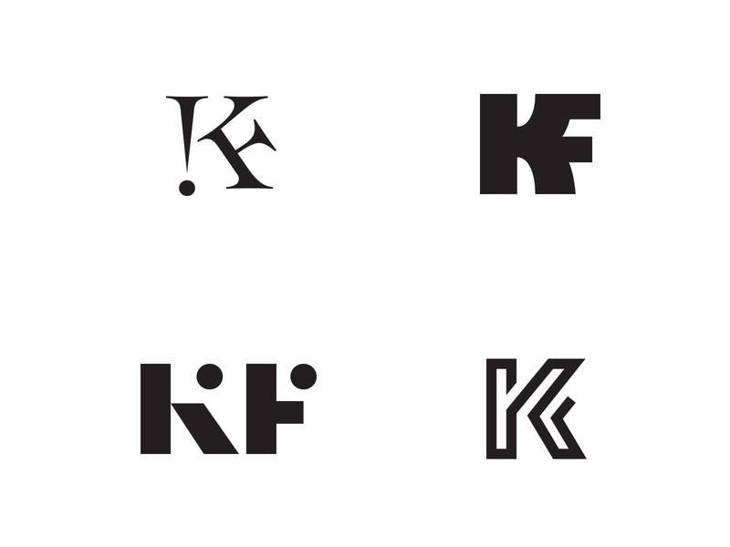 KF MONOGRAM icon brand identity branding identidade visual identity branding identity logotype typography typeface type kf monogram negative space logo logo