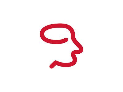 HEAD brain branding brand logo app icon coaching coach head