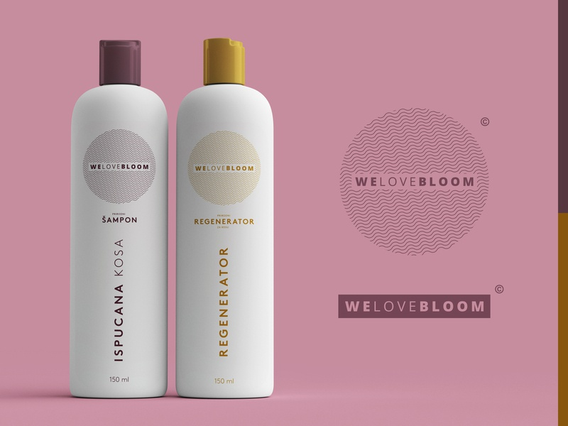 Hair care product design - WeLoveBloom art beauty product beauty logo print hair product photoshop illustrator packaging cosmetic packaging product design 3d
