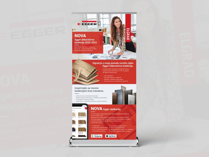 Roll Up banner design - Elgrad / Eegger corporate design layout design mokcup product design vector illustrator adobe graphicdesign banner design banner print rollup banner