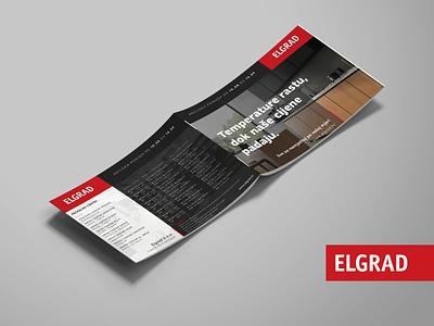 Brochure design - Elgrad logo branding design product design branding brochure layout brochure design brochure mokcup graphicdesign print