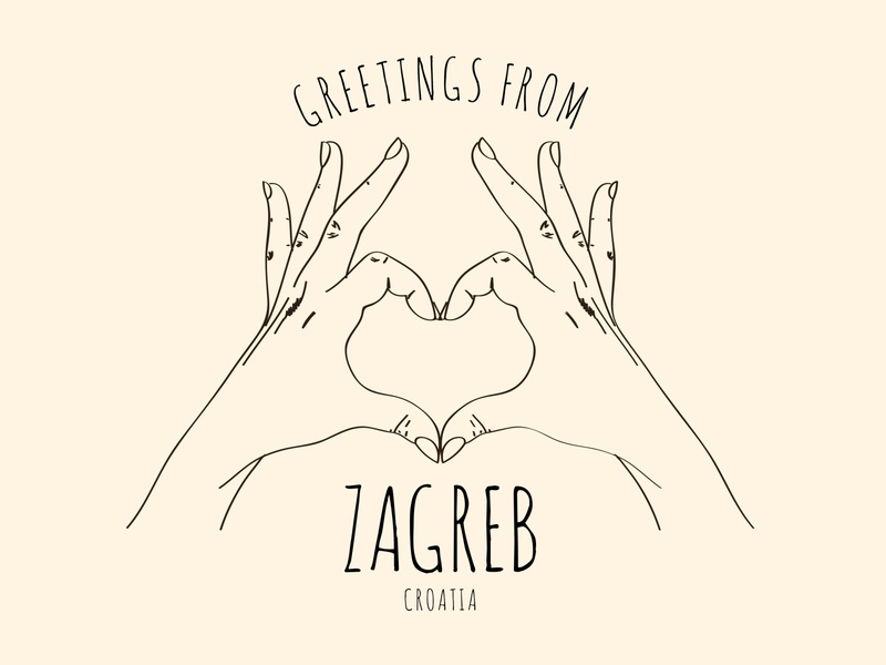 Greeting from Zagreb T-Shirt design drawing illustration illustrator adobe graphicdesign design art travel typography vector tshirtdesign tshirt art tshirt