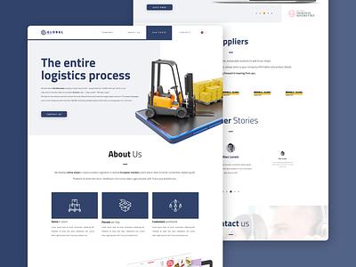 Logistics compnay website figma design figma one page logo uxui design commercial responsive webdesign website ui design uxdesign ux ui