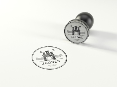 "Rubber Stamp ""Zagreb"" t-shirt  graphic badge logo stamp screenprint tshirt art tshirtdesign tshirt illustration typography apparel design illustrator art mokcup print vector logo"