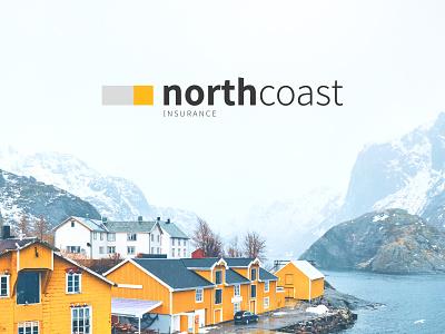 Northcoast ins. logo illustrator graphicdesign logos dribbleartist logo design design branding vector logo typo typography nordic logotype