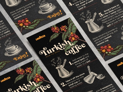 """Infographic design """"How to make turkish coffee"""" art mokcup graphicdesign typography illustrator design vector infographic"""