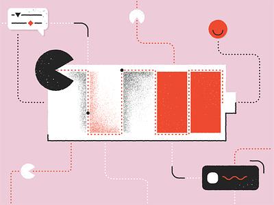 How to avoid burnout pandadocdesign cover pink digital art adobe adobe illustrator graphic ui design clean illustrator art 2d flat ui vector illustration graphic design design blog abstract