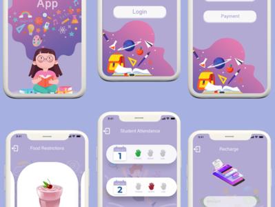 School App illustration app ux ui