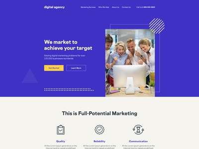 Digital Marketing Agency Website illustration ui  ux website design latest trend clean ui