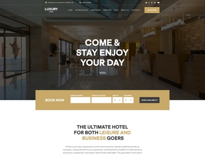 Luxury Hotel Website hotel website latest trend modern design clean ui webdesign