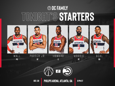 Washington Wizards starting lineup
