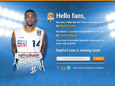 Rayfor3.com - Coming soon screen basketball webdesign web wordpress europe