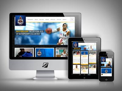 Rayfor3.com - Showcase basketball webdesign web wordpress europe mobile responsive