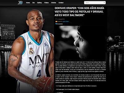 DontayeDraper4.com basketball wordpress webdesign design sports